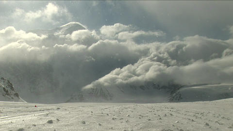 Blizzard moving in with sun-shining Stock Video Footage
