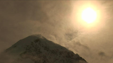 Sun coming out after blizzard Stock Video Footage