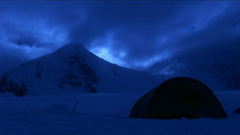 Tent at dusk Stock Video Footage