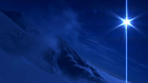 Peak under pale blue light Stock Video Footage