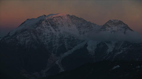 Sunsets on Caucasus Peak Footage