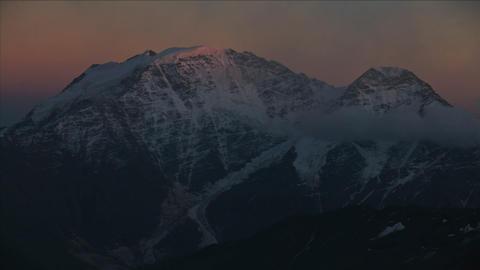 Sunsets on Caucasus Peak Stock Video Footage