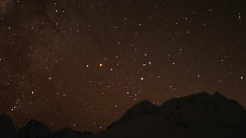 Night sky over the Himalayas Stock Video Footage