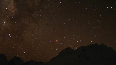 Night sky over the Himalayas Footage