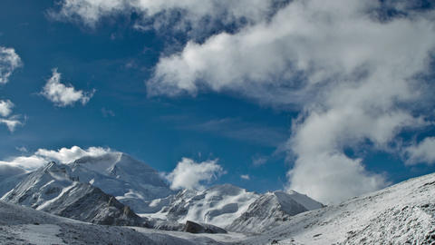 Clouds move above Cho Oyu Stock Video Footage