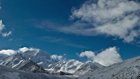 Clouds move above Cho Oyu Footage