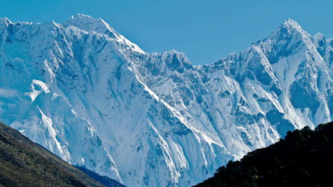 View of Everest and Lhotse Footage