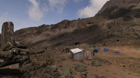 Lake side camp Kilimanjaro trek Footage