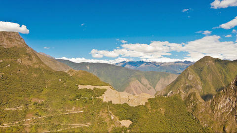 Machu Picchu from a distance Stock Video Footage