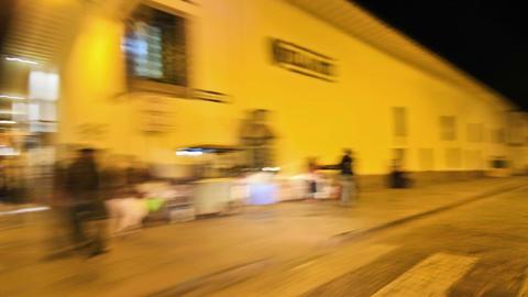 Driving around Cusco, Peru at night Stock Video Footage