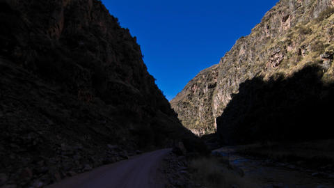 Driving to Chillka through Andean foothills Stock Video Footage