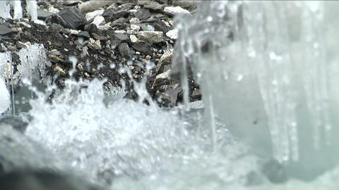 Rushing water of glacial stream Stock Video Footage