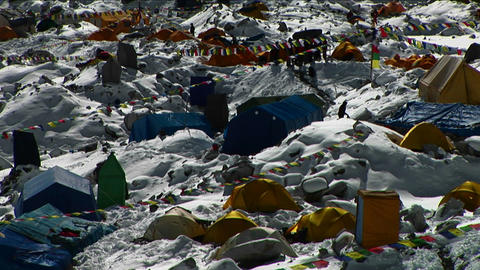 Close up of part of Everest Basecamp Footage