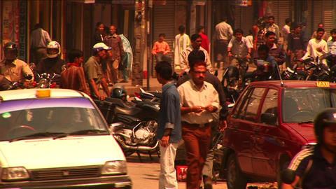 Driving through busy streets of Kathmandu Stock Video Footage