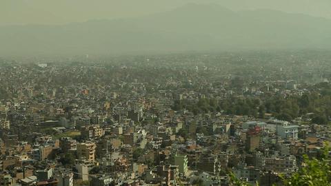 Closer pan of Kathmandu Stock Video Footage
