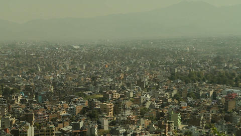 Closer pan of Kathmandu Stock Video Footage