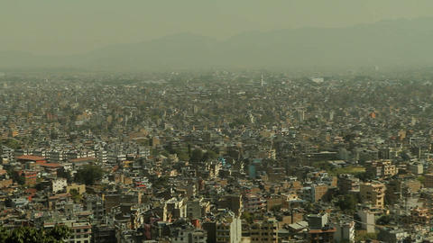 Closer pan of Kathmandu Footage