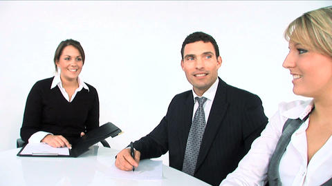 Business team at meeting Stock Video Footage