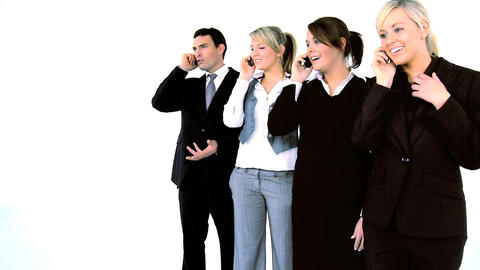 Business people on the phone Stock Video Footage
