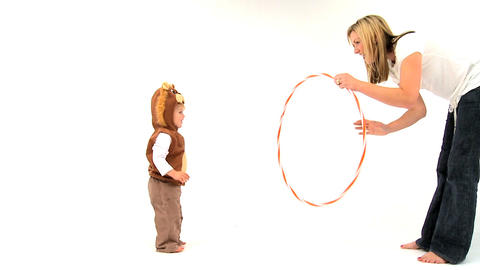 Boy and Hula Hoop Footage