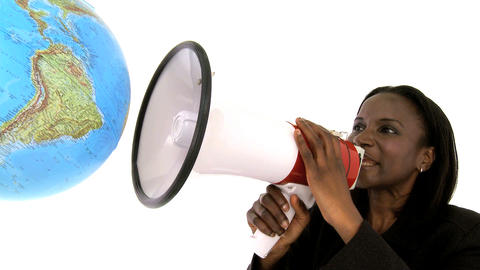 Beautifu lafrican american businesswoman speaking to... Stock Video Footage