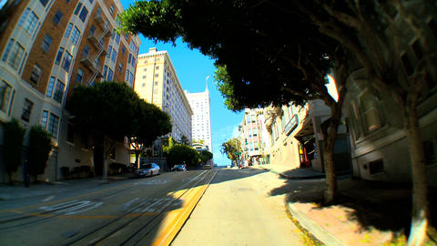 Timelapse point-of-view with fish-eye lens driving the... Stock Video Footage