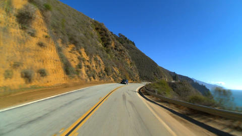Timelapse point-of-view driving the Pacific coast highway Stock Video Footage
