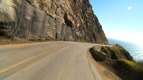 Timelapse point-of-view driving the Pacific coast highway Footage