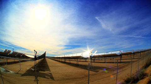 Timelapse of solar panels producing clean & renewable energy Stock Video Footage