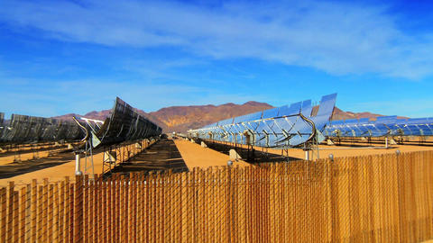 Cluster of solar panels producing clean & renewable energy Stock Video Footage