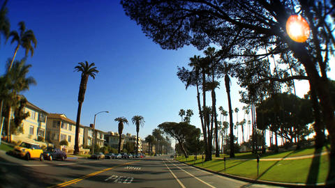Point-of-view with fish-eye driving along the Pacific Coast Stock Video Footage