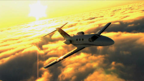 Business people travelling by private jet Stock Video Footage