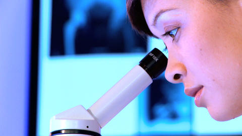 Western oriental healthcare staff working with laboratory... Stock Video Footage