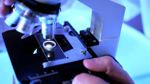 Medical staff using laboratory equipment for patient... Stock Video Footage
