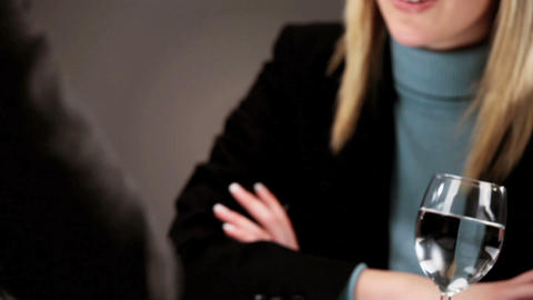 Healthy living young woman attending a business interview Footage
