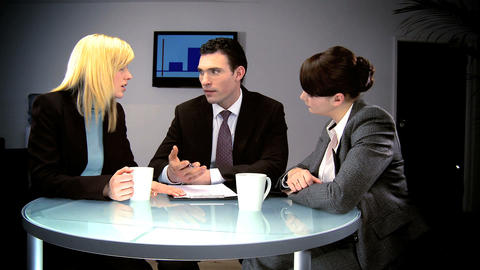 Dynamic young business team expanding on new ideas Stock Video Footage