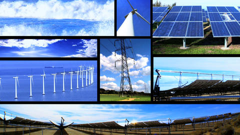 Clean Energy Montage Stock Video Footage