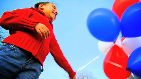 Balloons and Sky Stock Video Footage