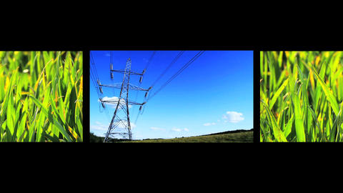 Montage of images showing sources of environmental power Footage