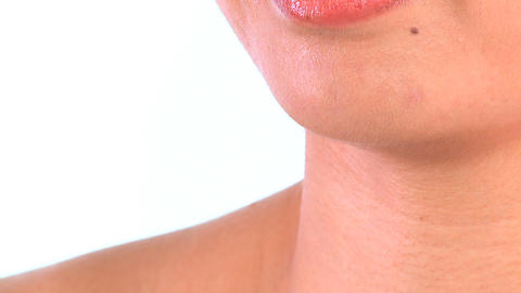 Close-up of oriental japanese girl confident in beauty... Stock Video Footage