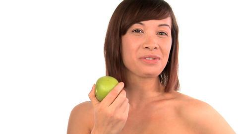 Portrait of western oriental girl confident in her beauty... Stock Video Footage