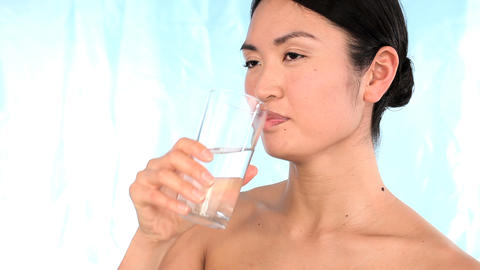 Portrait of oriental japanese girl confident in her... Stock Video Footage