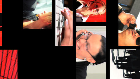 06310309BUSINESSMONTAGEVL Stock Video Footage