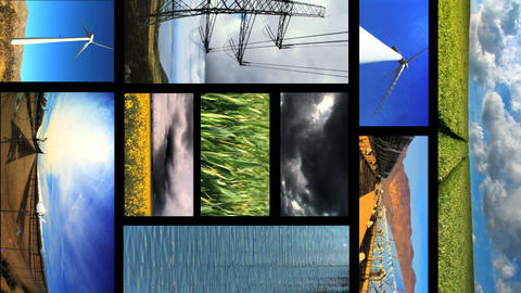 06330309ENERGYMONTAGEVL Stock Video Footage