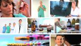 Montage Of Medical Healthcare Scenes & Images stock footage