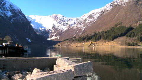 Crystal clear waters of glacial fjords Footage