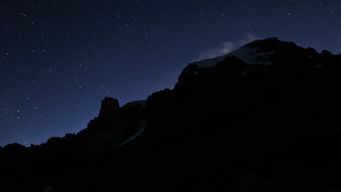 Aconcagua Time lapse - day-night transition Stock Video Footage