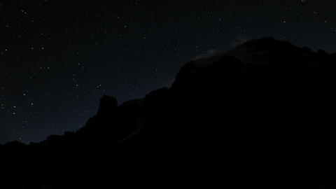 Aconcagua Time lapse - day-night transition Footage