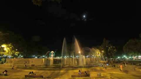 Mendoza Time Lapse - Public square and fountains Stock Video Footage