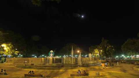 Mendoza Time Lapse - Public square and fountains Footage